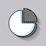 pie graph statistic line icon Stock Photos