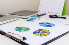Pie graphs business Royalty Free Stock Images