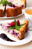 Pie with green tea Royalty Free Stock Image