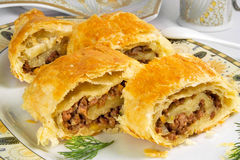 Pie with ground beef Stock Photography