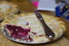 Homemade Raspberry Pie Stock Photo