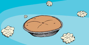 Pie i skyen stock illustrationer