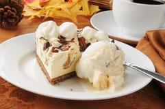 Pie and ice cram Royalty Free Stock Image