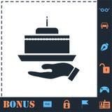 Pie icon flat royalty free illustration