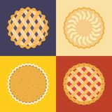 Pie icon set Stock Images