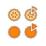 Pie icons set Stock Photography
