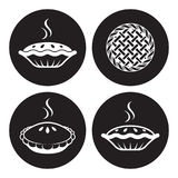Pie icons Royalty Free Stock Photography