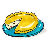 Pie illustration Stock Images