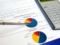 Pie investment chart Stock Image