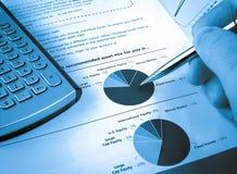Pie Investment Chart Stock Photo