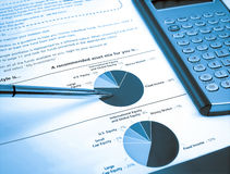 Pie Investment Chart Royalty Free Stock Images