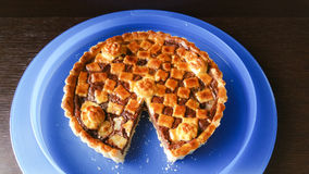 Pie. Italian pie with nutella cream Royalty Free Stock Photo