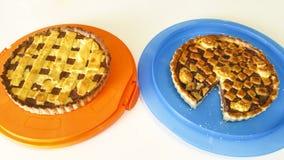 Pie. Italian pie with nutella cream Royalty Free Stock Image