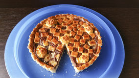 Pie. Italian pie with nutella cream Stock Photography