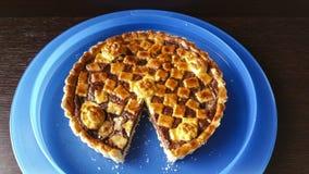 Pie. Italian pie with Nutella cream Stock Photo