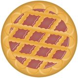Pie jam. Illustration of a strawberry pie isolated on a white background. Eps file available Royalty Free Stock Images