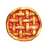 Pie with jam. Watercolor Royalty Free Stock Photos