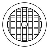Pie with lattice top icon, outline style Stock Images