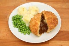 Steak pie mash and peas stock image. Image of snack ...
