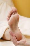 Pie massage#1 Foto de archivo libre de regalías