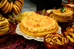 Pie with meat. Royalty Free Stock Photography