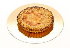 Pie med mandelar och pearen Royaltyfri Foto