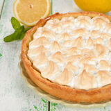Pie with meringue Royalty Free Stock Photos