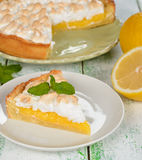 Pie with meringue Royalty Free Stock Images