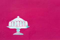 Pie motif as decor. Detail of a pink facade with pie motif as decor Royalty Free Stock Photography