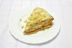 Pie Napoleon part  Royalty Free Stock Image