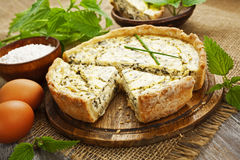 Pie with nettle royalty free stock photography