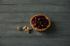 Pie and nut. Food-foto Royalty Free Stock Photography