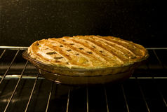 Pie in Oven Stock Photos