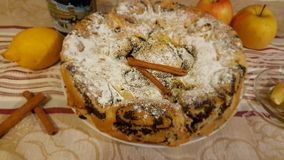 Pie with papaver Royalty Free Stock Photos