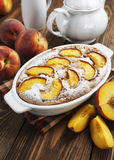 Pie with peaches Royalty Free Stock Photos