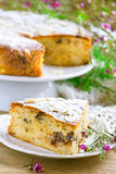 Pie with pears and chocolate Royalty Free Stock Photos