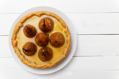 Pie with pears, cream butter and jelly Stock Image