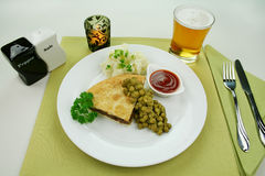 Pie With Peas stock photography
