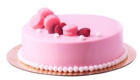 Pie in pink glaze Royalty Free Stock Photo