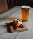 A Pie and a Pint Royalty Free Stock Photography