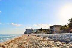 Pie Playa del pie Lauderdale Imagen de archivo libre de regalías