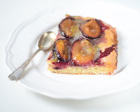 Pie with plums Royalty Free Stock Images