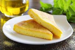 Pie of polenta Stock Photos