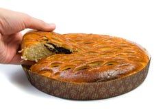 Pie with poppy. Stock Images