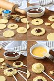 Pie pops with cocolate step by step Stock Photo