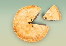 Pie Portions Royalty Free Stock Photos