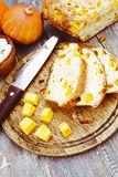 Pie with pumpkin and curd Stock Photography