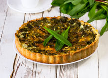 Pie  with a ramson Royalty Free Stock Image