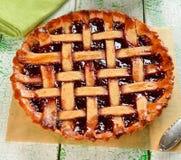 Pie with raspberry jam Stock Images