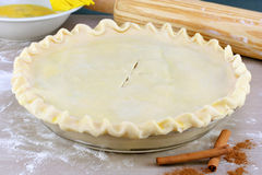 Pie Ready To Bake Stock Photo
